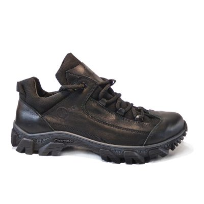 C-862  (Black) всезонные треккинговые ботинки для работы и отдыха из натуральной кожи.