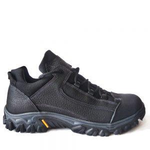 модель C-865  (Black)  трекинговые кроссовки  из натуральной кожи.